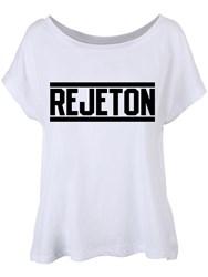 Rejeton T-Shirt Femme Blanc Coupe Fluide