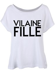 Vilaine Fille T-Shirt Femme Blanc Coupe Fluide